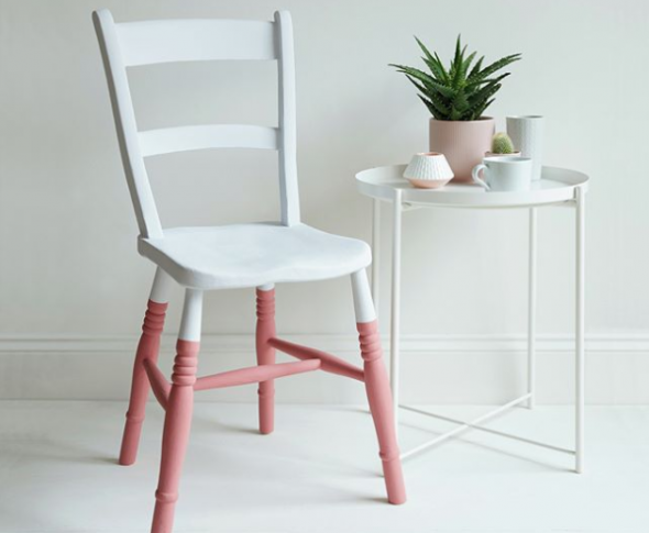Delilah is a coral pink colour that's perfect for painting furniture