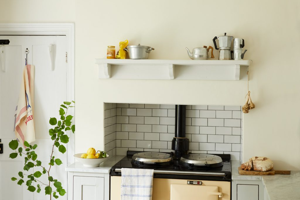 Sandy Castle is a warm creamy paint colour, ideal for brightening up kitchens