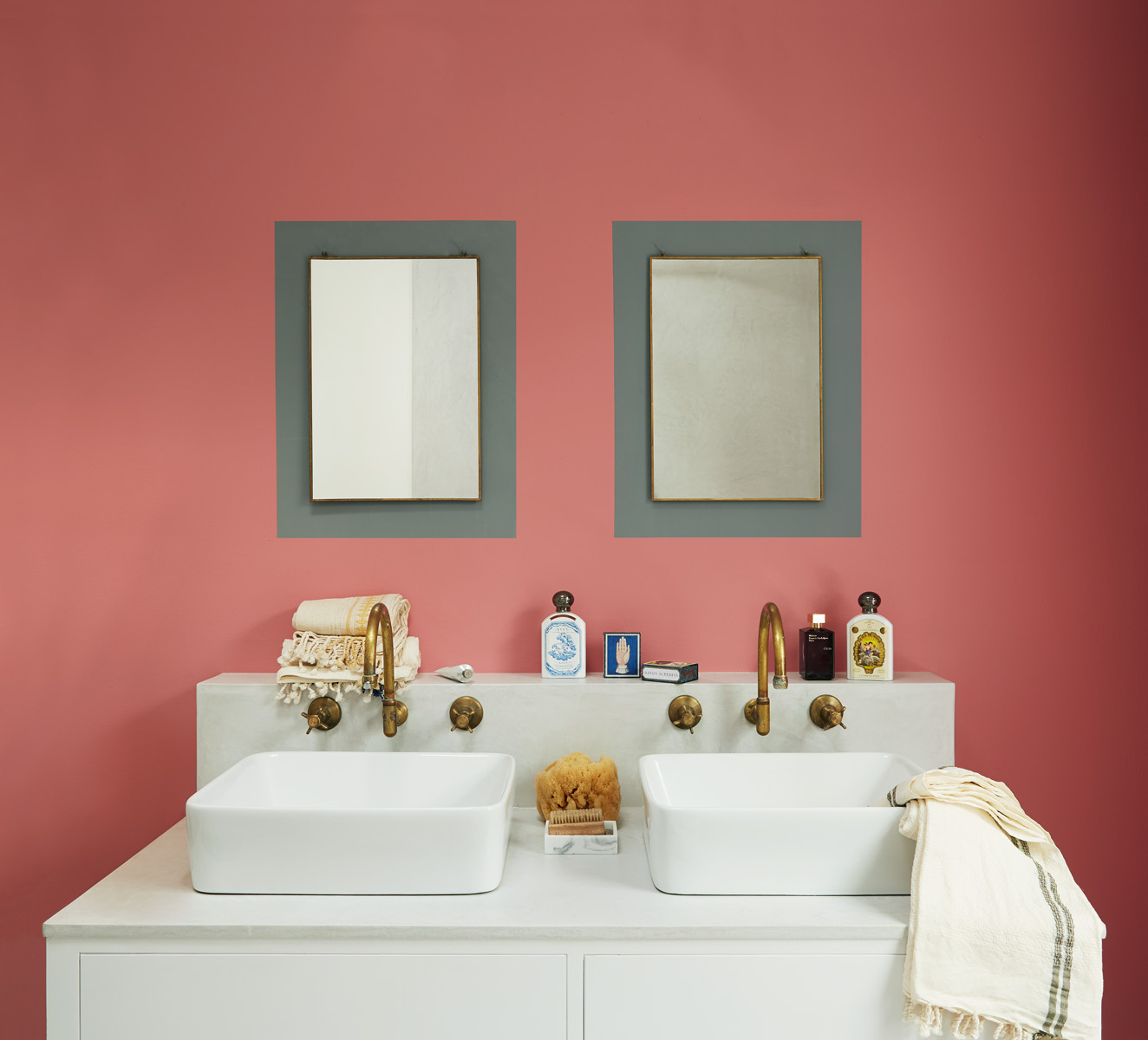 Here we've painted a border of Hippo Hooray around these mirrors