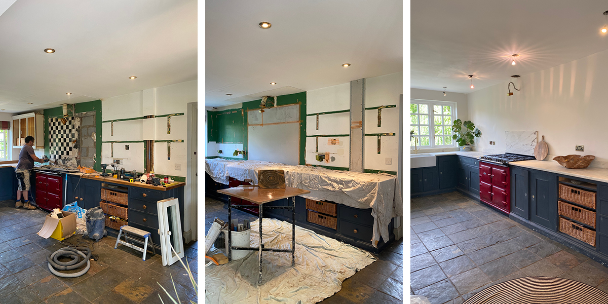 Pandora Maxton's kitchen was upadted with new worktops and paint colours