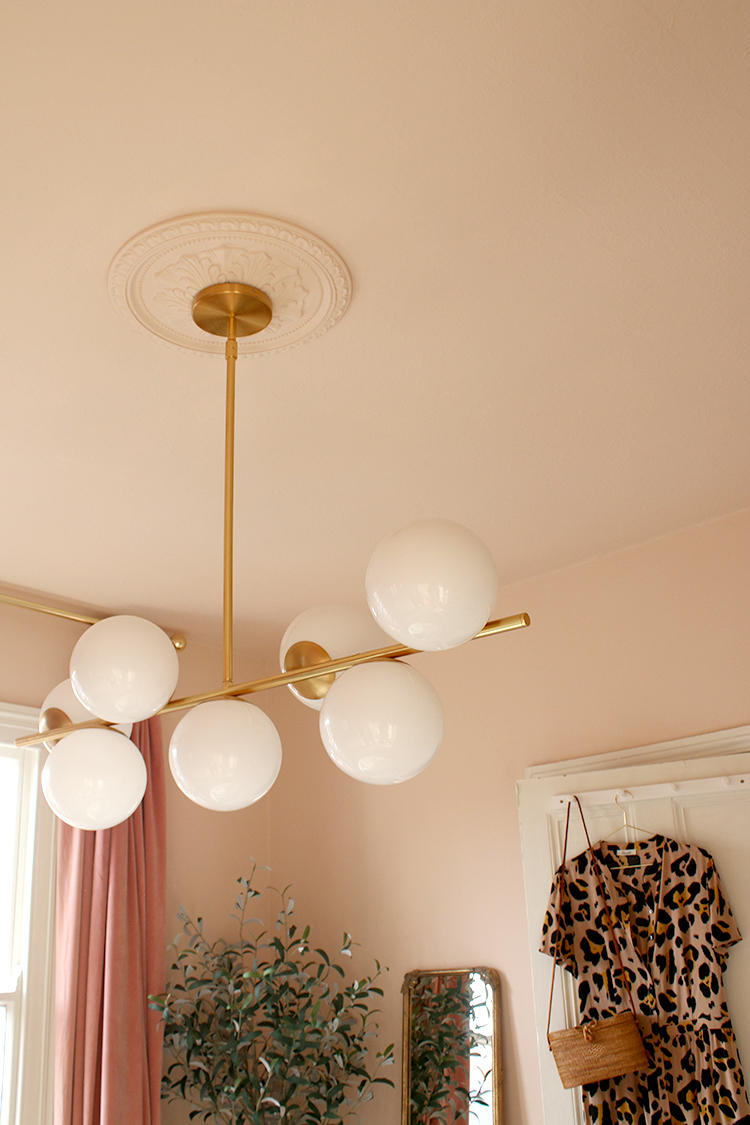 Kimberly from Swoonworthy blog used Peach Baby on her walls and ceilings