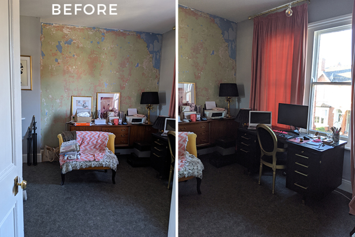 Swoonworthy's office and dressing room before
