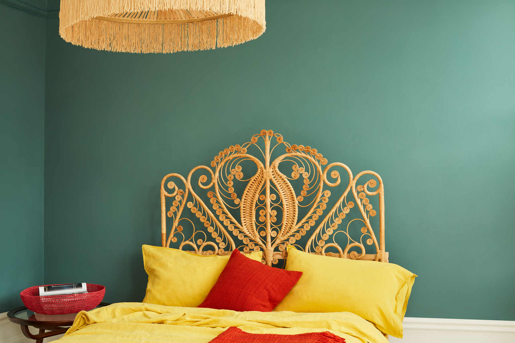 Hobgoblin is a relaxed, deep green that works well with mustard colours
