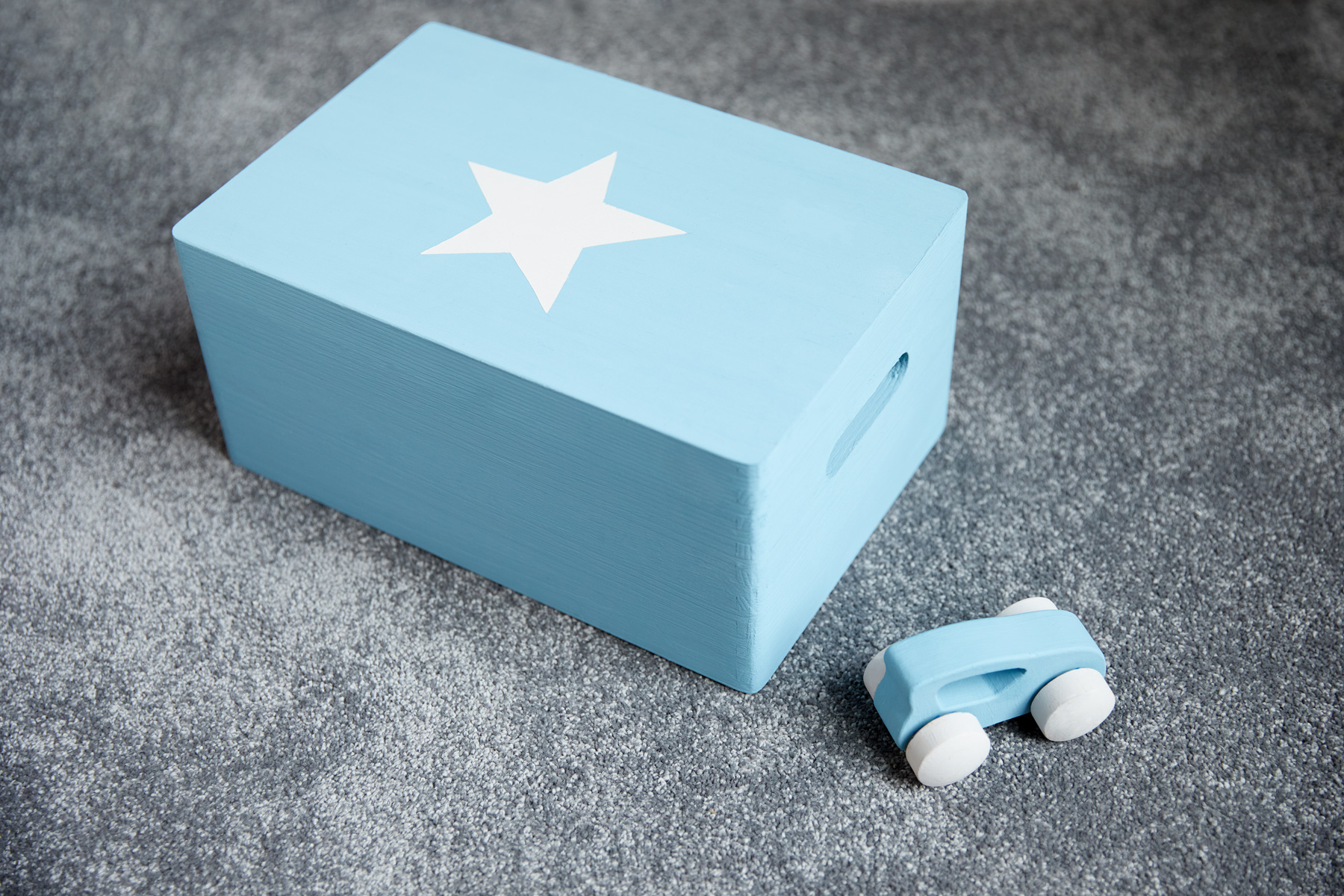 Eco Chic in Polka Dot blue is perfect for painting children's furniture and toys!