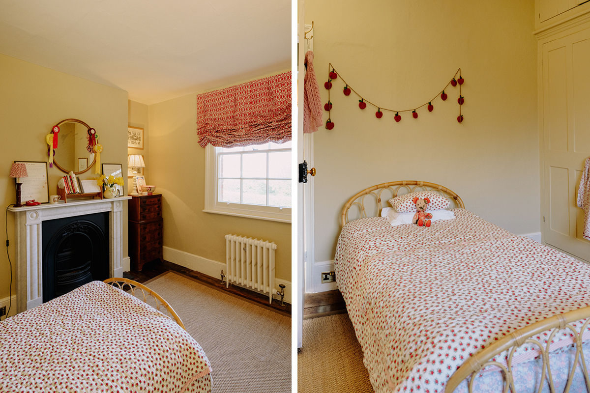 Louise Roe's charming daughter's room, painted in Earthborn Crocky Road