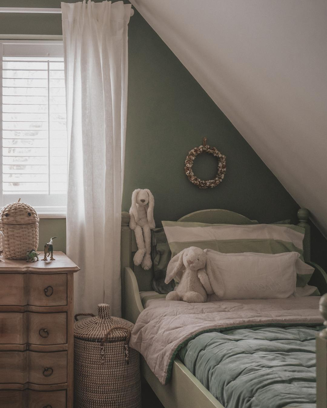 Secret Room by Earthborn creates a cosy bedroom space for Joey Kendal Brown's son