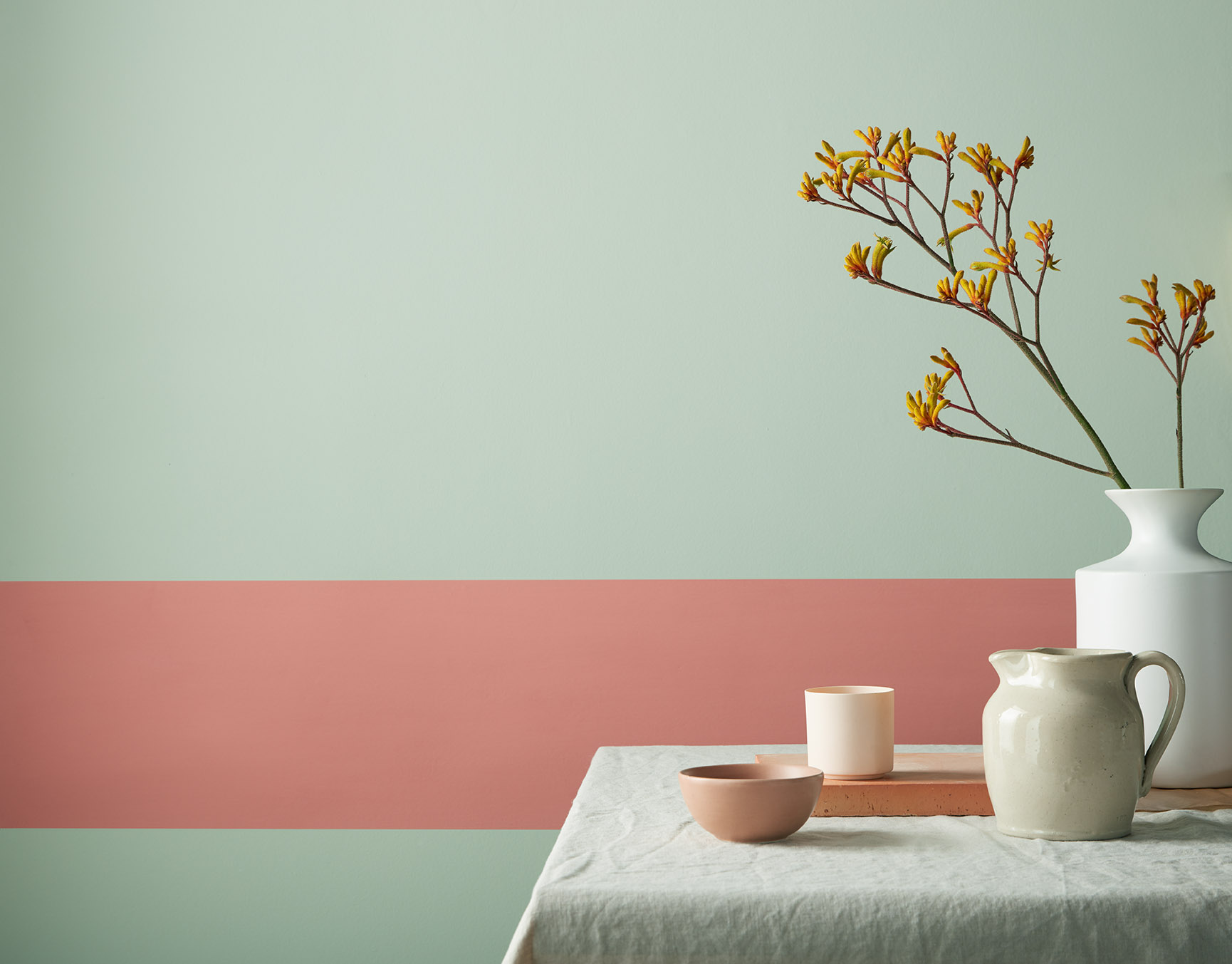 Faerie and Baked Tile from Earthborn's Modern Country Colours collection
