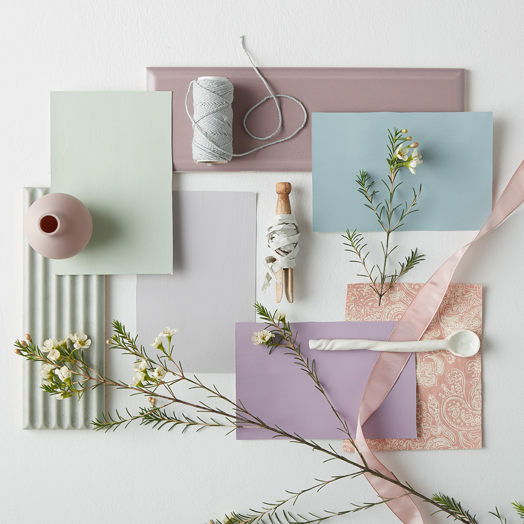 Floral spring shades from Earthborn's new Modern Country Colours collection
