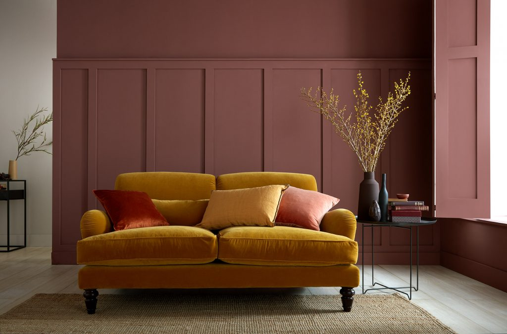 Nutkin is a velvety reddish-brown paint colour that will cosy up your home.