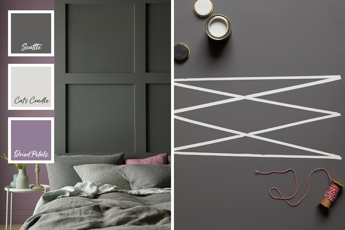 Scuttle from our Modern Country Colours is a dramatic charcoal grey