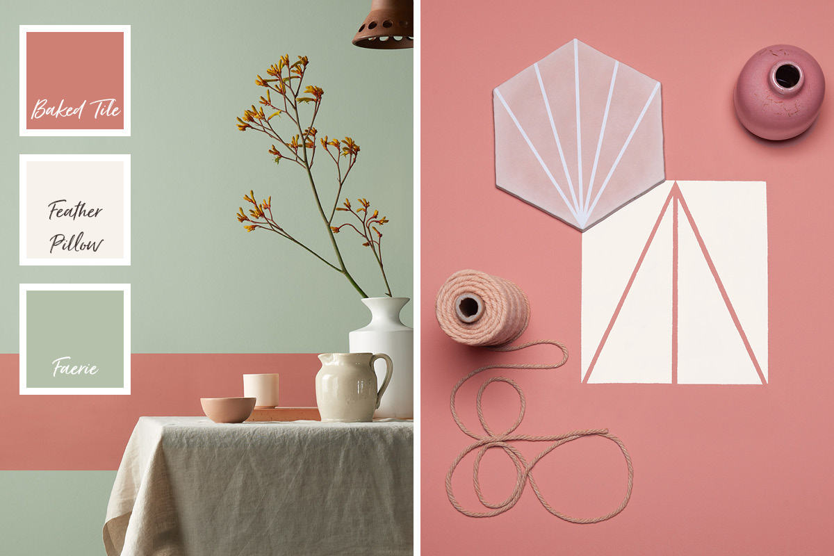 Baked Tile is a warm pinky orange from our Modern Country Colours collection