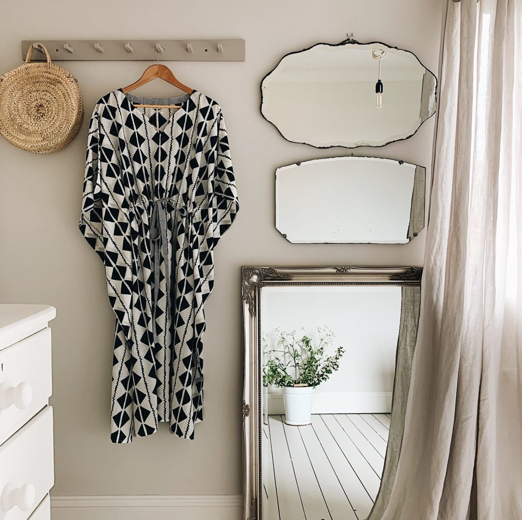 Jane Day's peaceful bedroom decorated in neutral colours